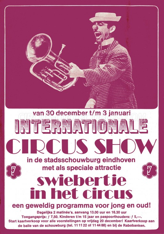 Internationale Circus Show Circus Ticket/Flyer - Netherlands 0