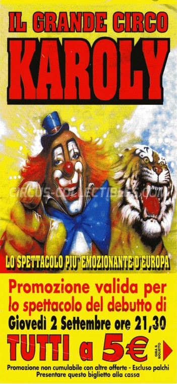 Karoly Circus Ticket/Flyer -  2004