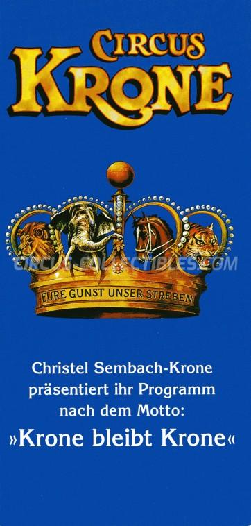 Krone Circus Ticket/Flyer -  0