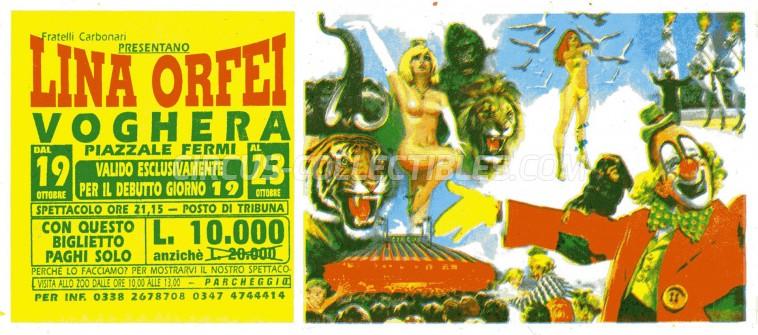 Lina Orfei Circus Ticket/Flyer - Italy 0