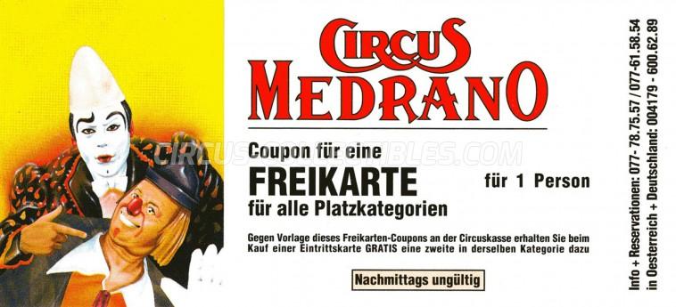 Medrano (CH) Circus Ticket/Flyer -  0