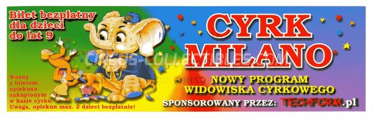 Milano Circus Ticket/Flyer -  0