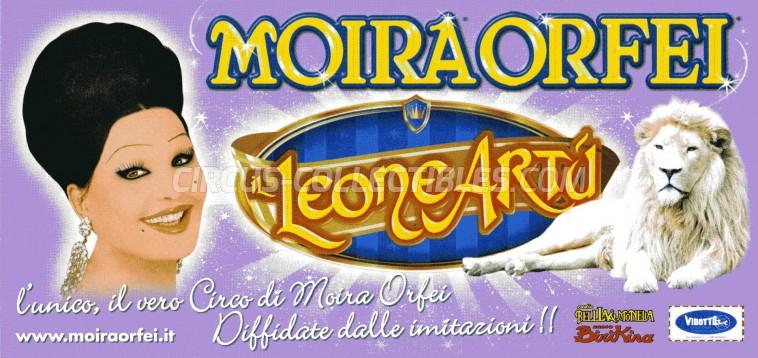 Moira Orfei Circus Ticket/Flyer -  2012