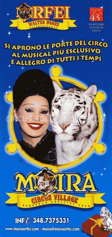 Moira Orfei Circus Ticket/Flyer -  2003