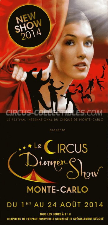 Festival International du Cirque de Monte-Carlo Circus Ticket/Flyer -  2014