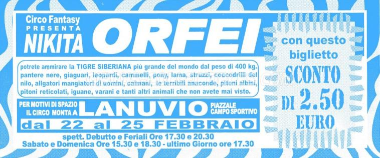 Nikita Orfei Circus Ticket/Flyer - Italy 0