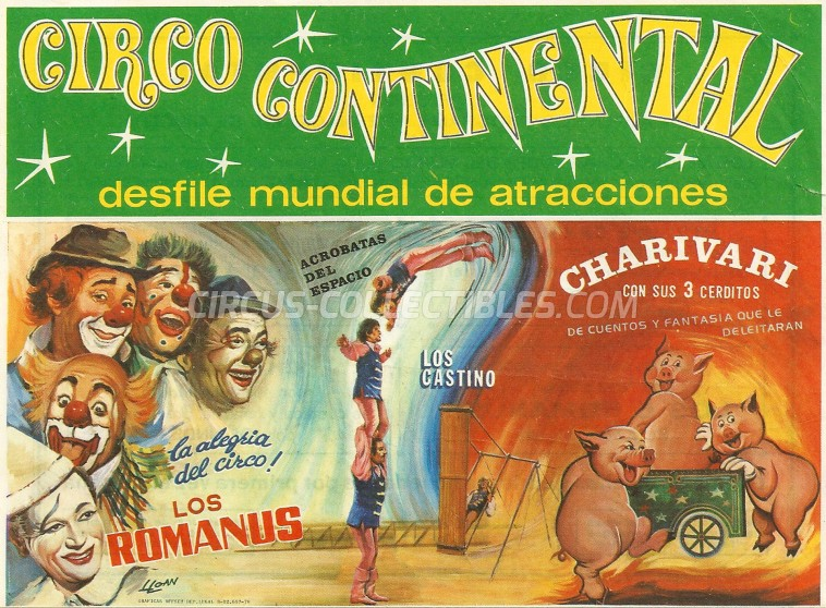 Continental Circus Ticket/Flyer -  1978