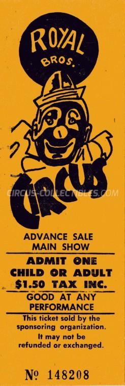 Royal Bros. Circus Circus Ticket/Flyer -  0