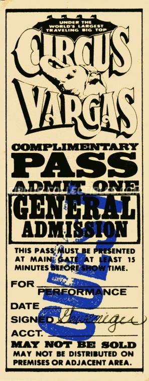 Vargas Circus Ticket/Flyer -  0
