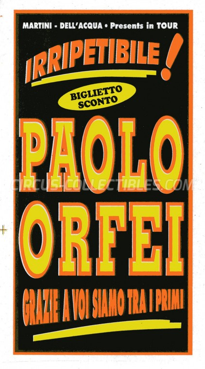 Paolo Orfei Circus Ticket/Flyer -  0