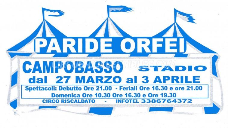 Paride Orfei Circus Ticket/Flyer - Italy 0