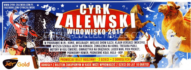 Zalewski Circus Ticket/Flyer -  2014