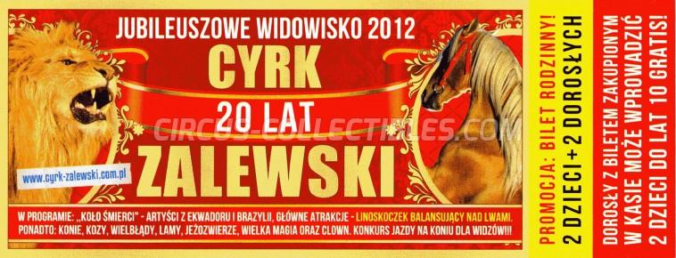 Zalewski Circus Ticket/Flyer -  2012