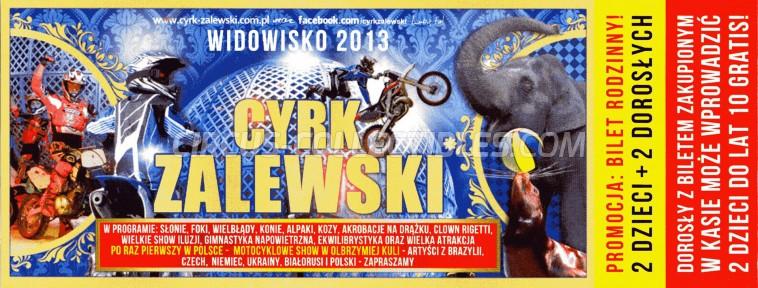 Zalewski Circus Ticket/Flyer -  2013