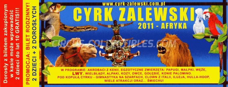 Zalewski Circus Ticket/Flyer -  2011