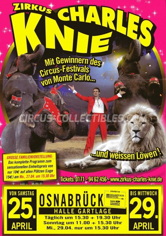 Charles Knie Circus Ticket/Flyer - Germany 2015