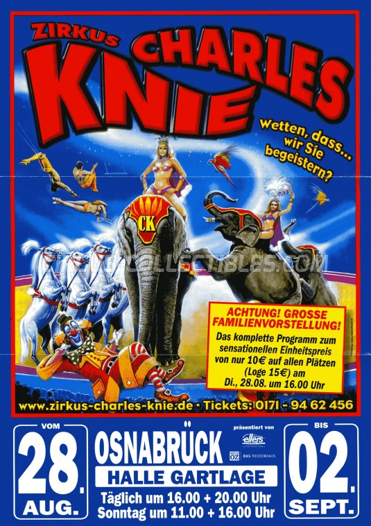 Charles Knie Circus Ticket/Flyer - Germany 2012