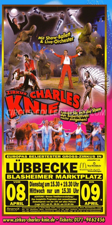 Charles Knie Circus Ticket/Flyer - Germany 0