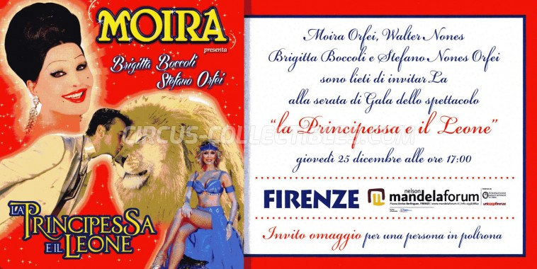 Moira Orfei Circus Ticket/Flyer - Italy 2014