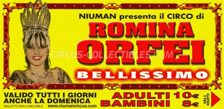Romina Orfei Circus Ticket/Flyer -  0