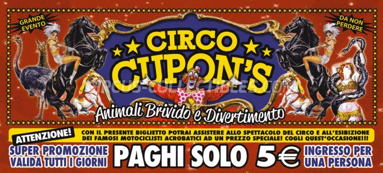 Cupon's Circus Ticket/Flyer -  0