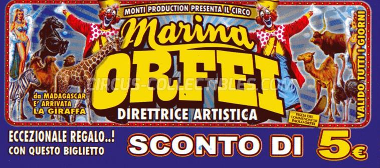 Marina Orfei Circus Ticket/Flyer -  2013
