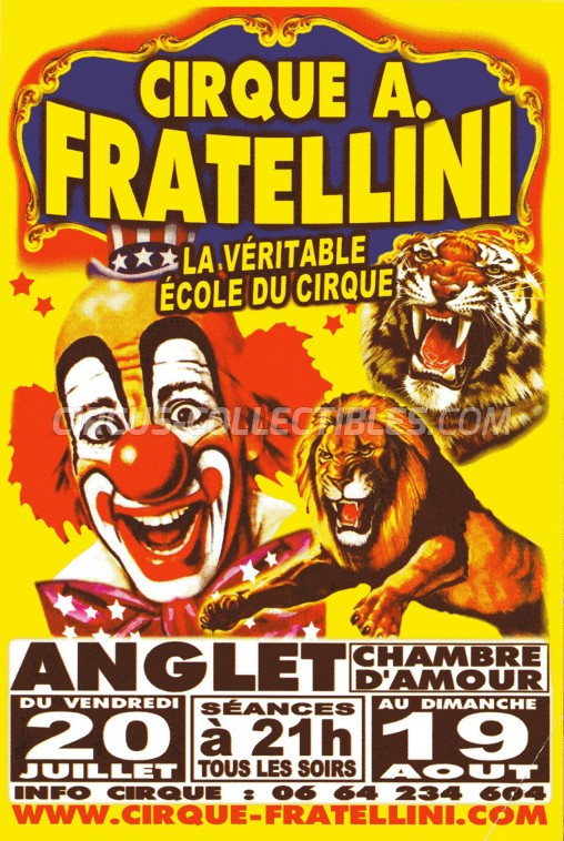 A. Fratellini Circus Ticket/Flyer - France 2012