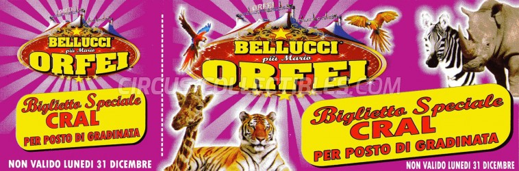 Bellucci Circus Ticket/Flyer -  0