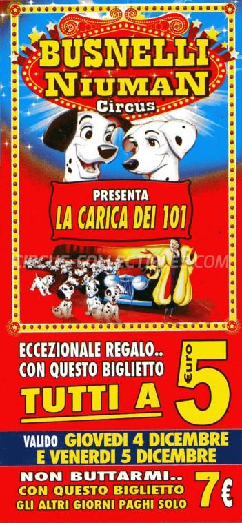 Busnelli Niuman Circus Circus Ticket/Flyer -  2014