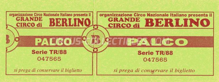 Circo di Berlino Circus Ticket/Flyer -  1988
