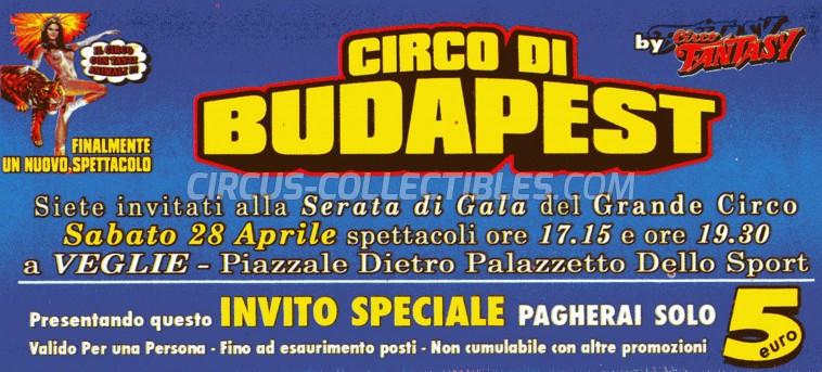 Fantasy Circus Ticket/Flyer - Italy 2012