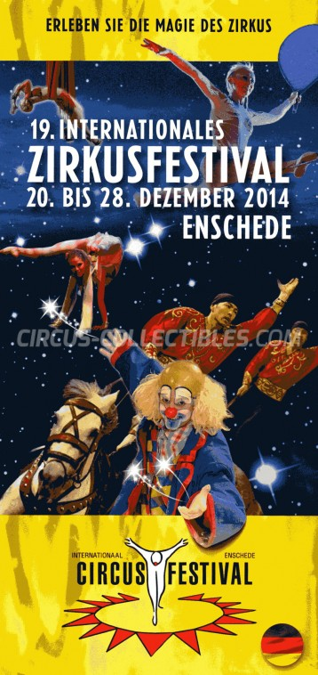 International Enschede Circus Festival Circus Ticket/Flyer - Netherlands 2014