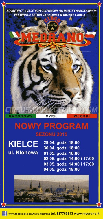 Medrano (Casartelli) Circus Ticket/Flyer - Poland 2015