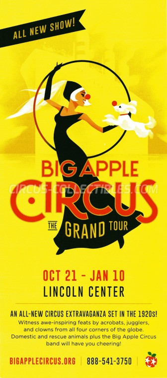 Big Apple Circus Circus Ticket/Flyer - USA 2015