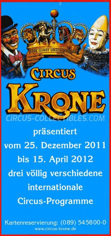 Krone Circus Ticket/Flyer -  2011