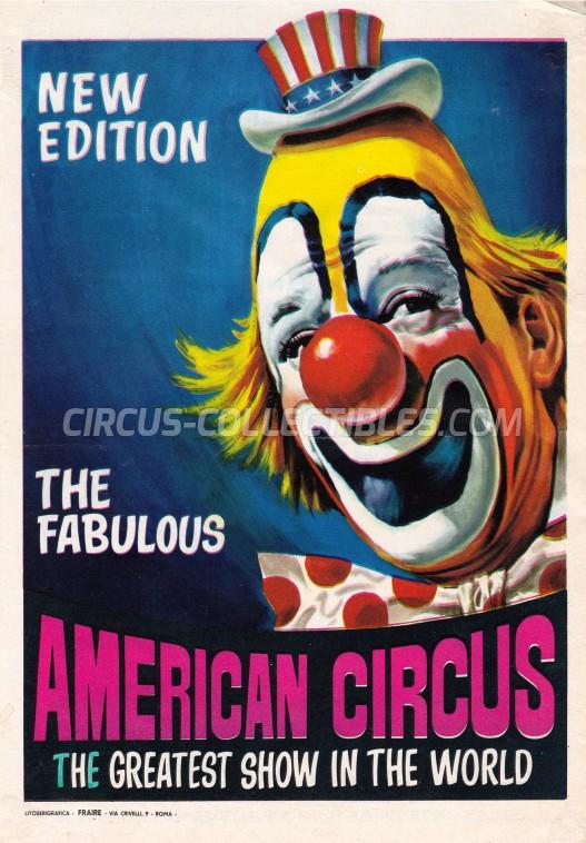American Circus Circus Ticket/Flyer - Serbia 1970