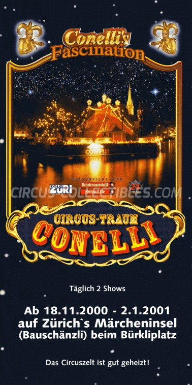 Conelli Circus Ticket/Flyer - Switzerland 2000