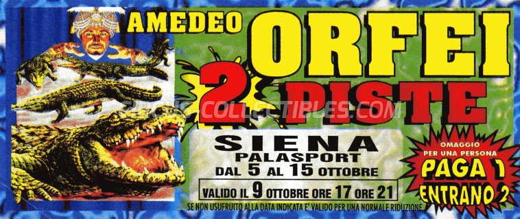 Amadeo Orfei Circus Ticket/Flyer - Italy 0