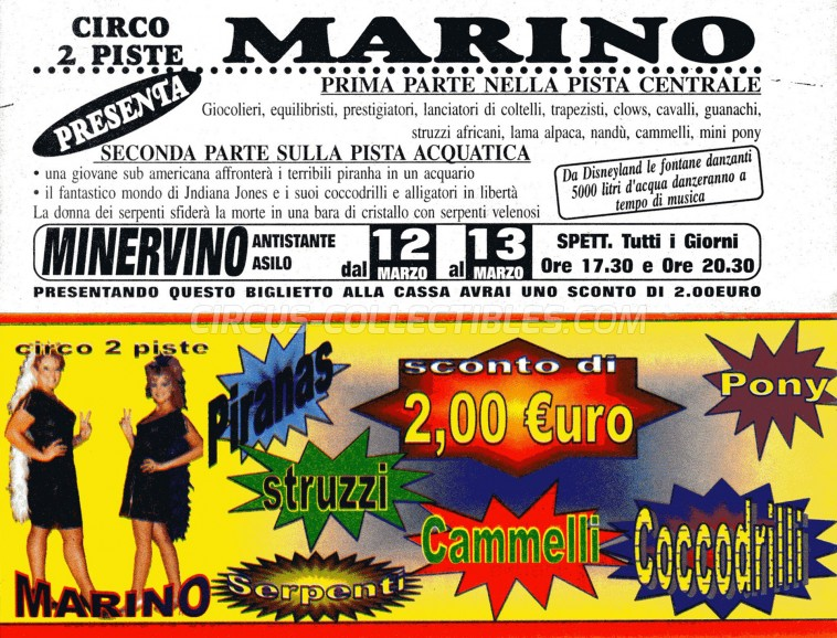 Marino Circus Ticket/Flyer - Italy 0