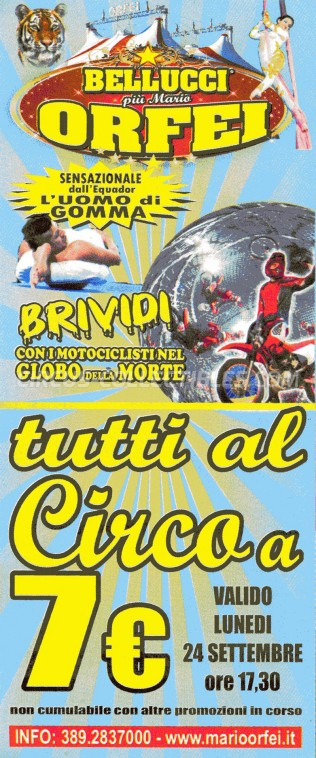 Bellucci Circus Ticket/Flyer -  0