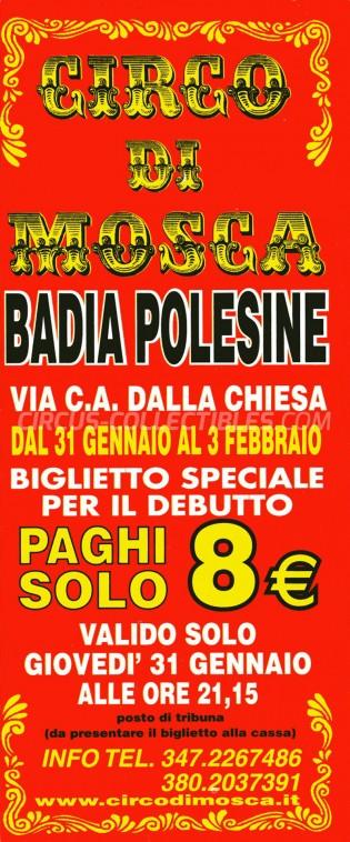 David Orfei Circus Ticket/Flyer - Italy 0