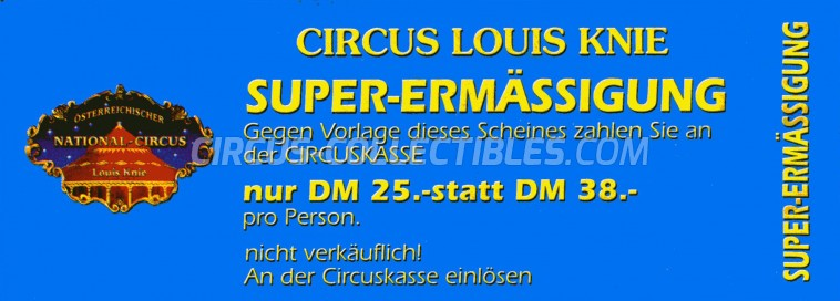 Louis Knie Circus Ticket/Flyer -  0