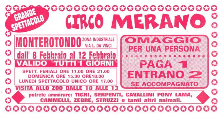 Merano Circus Ticket/Flyer - Italy 0