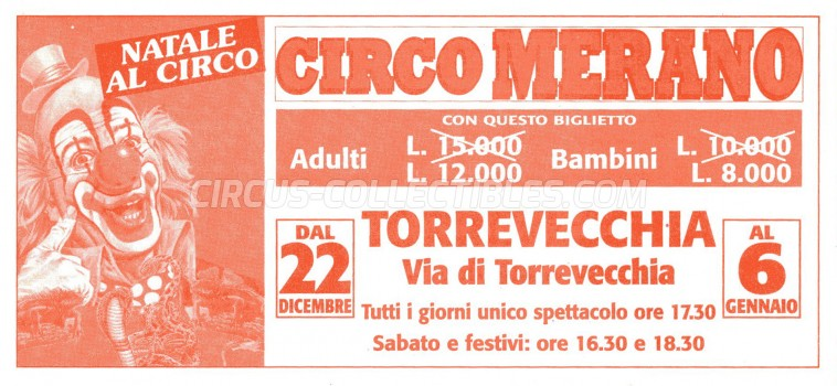 Merano Circus Ticket/Flyer - Italy 0