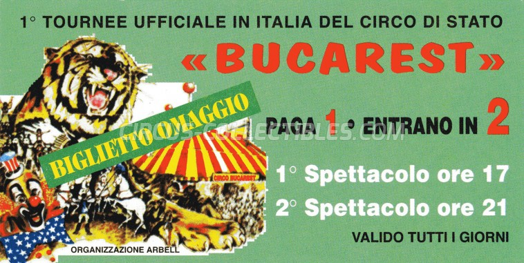 Circo di Stato di Bucarest Circus Ticket/Flyer -  0
