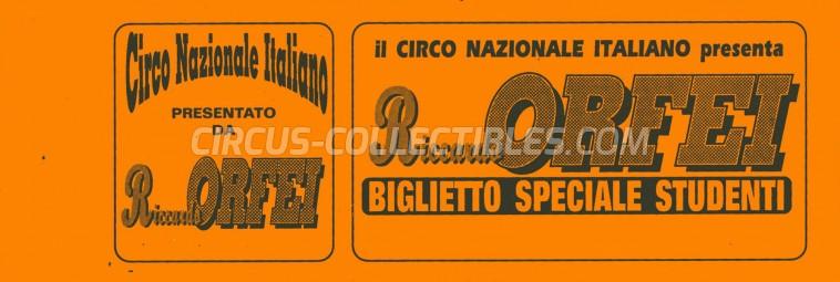 Riccardo Orfei Circus Ticket/Flyer -  0