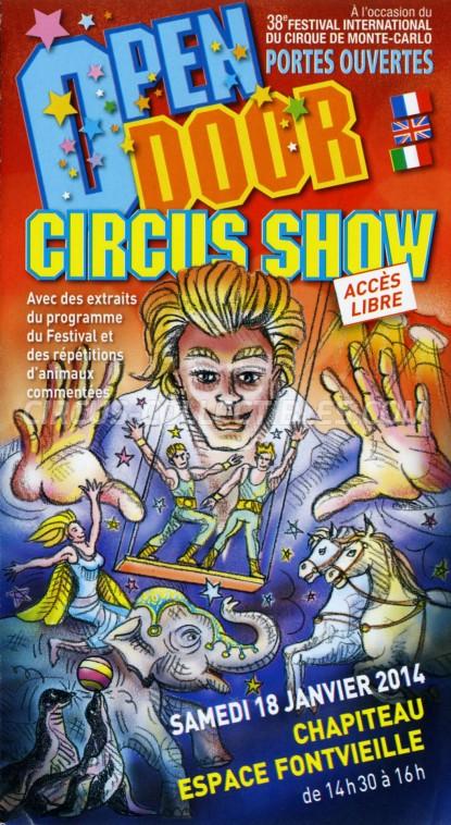 Festival International du Cirque de Monte-Carlo Circus Ticket/Flyer -  2014