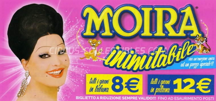 Moira Orfei Circus Ticket/Flyer - Italy 2016