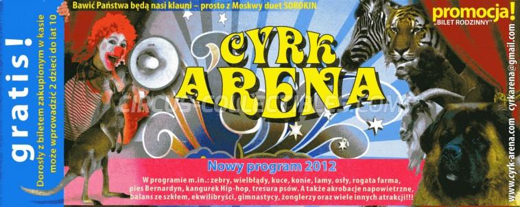 Arena (PL) Circus Ticket/Flyer -  2012