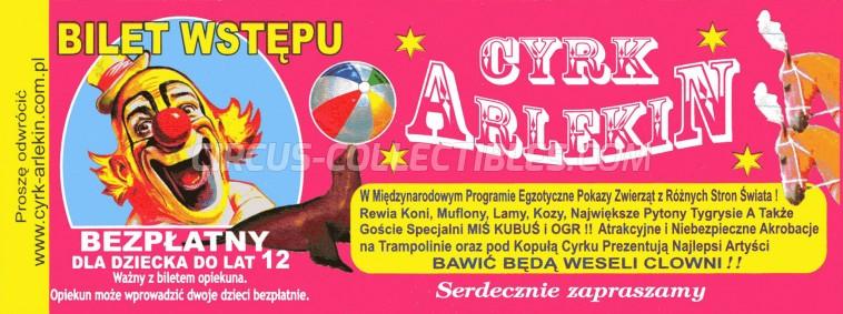 Arlekin Circus Ticket/Flyer -  0